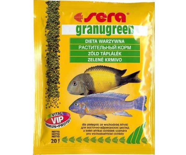 """Sera Корм гранулы для всех растительноядных рыб """"Granugreen"""""""
