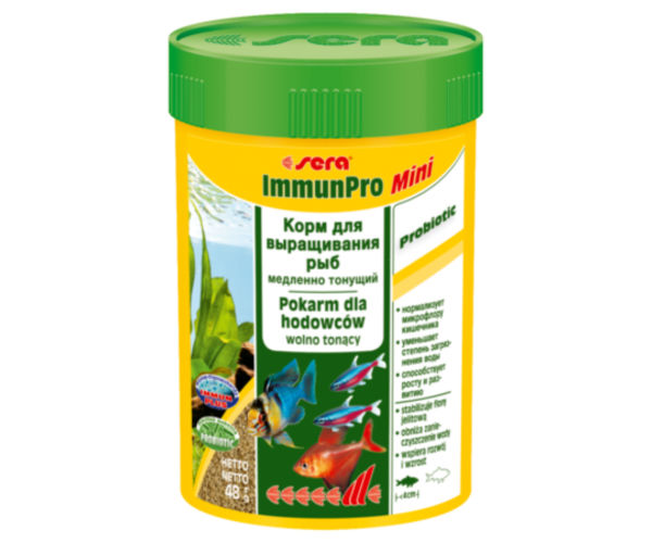 "Sera Корм гранулы для выращивания мелких рыб ""ImmunPro mini"""
