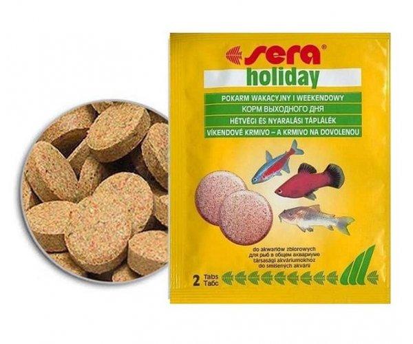 """Sera Корм таблетки для всех рыб """"Holiday"""", 2 таб."""