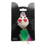 COMFY GAIA Мышка с перьями сизалевая