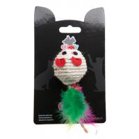 COMFY GAIA Мышка с перьями сизалевая, 5 см