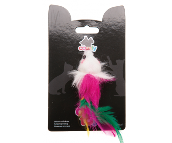 COMFY MINI Мышь с перьями, 9 см для кошек
