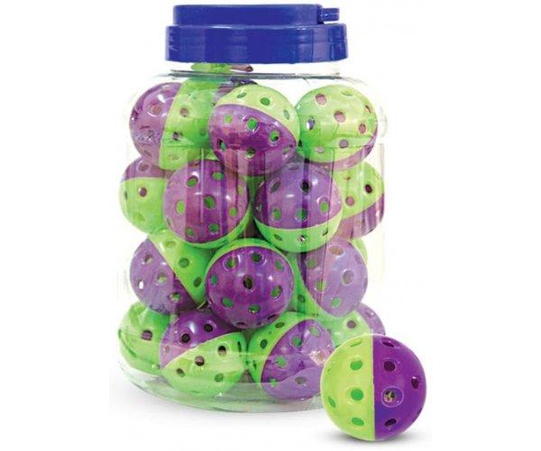 """Triol 3833 Игрушка """"Мяч-погремушка"""", фиолетово-зеленый (25 шт.) для кошек"""