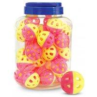 """Triol 3831 Игрушка """"Мяч-погремушка"""", желто-розовый (36 шт.)"""