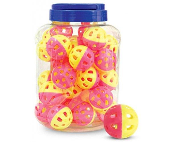 """Triol 3831 Игрушка """"Мяч-погремушка"""", желто-розовый (36 шт.) для кошек"""