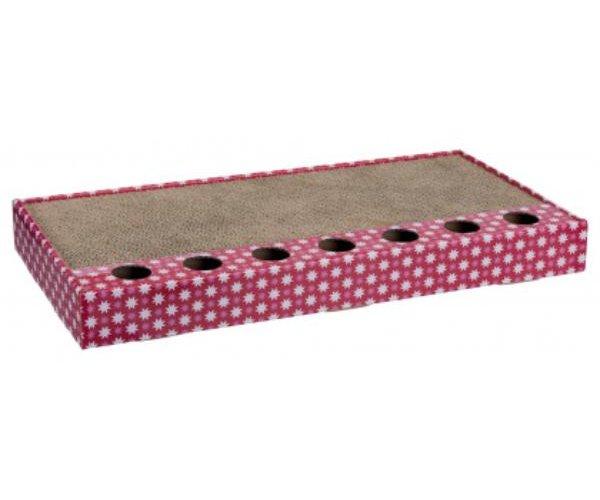 """Когтеточка """"Trixie"""" с игрушками, розовая для кошек"""