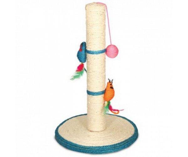 Triol NT-485 Столбик с 2-мя мышками и шариком для кошек