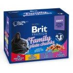 Brit Premium Cat Family Plate Chunks (семейная тарелка)