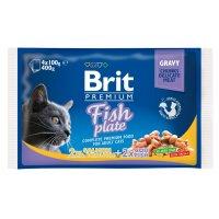 Brit Premium Cat Fish Plate, 4х100 г