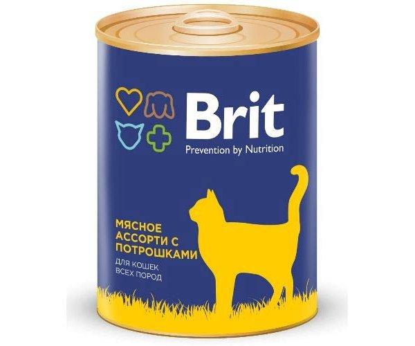 Brit Premium Cat (Мясное ассорти с потрошками)