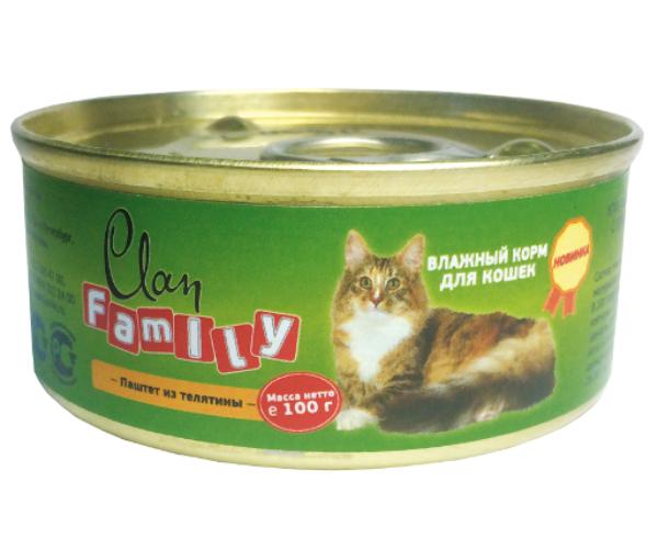 Clan Family Паштет из телятины для кошек