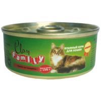 Clan Family Паштет из говядины для кошек