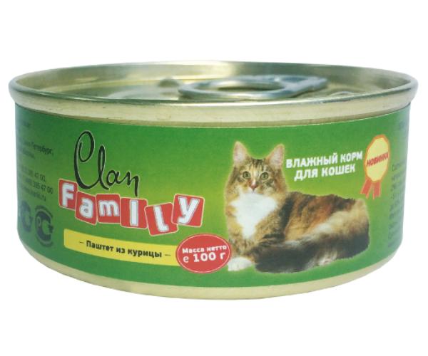 Clan Family Паштет из курицы для кошек