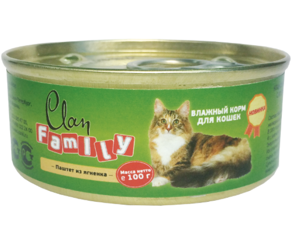 Clan Family Паштет из ягненка для кошек