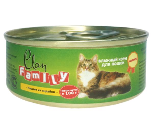 Clan Family Паштет из индейки для кошек