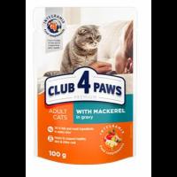 Club 4 Paws для кошек с макрелью в соусе