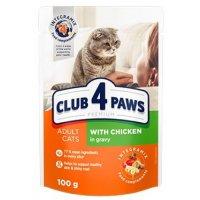 Club 4 Paws для кошек с курицей в соусе