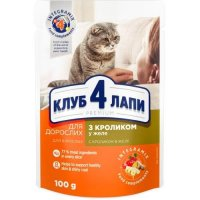 Club 4 Paws для кошек с кроликом в желе