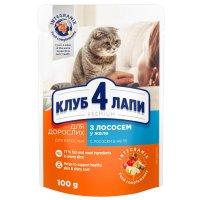 Club 4 Paws для кошек с лососем в желе