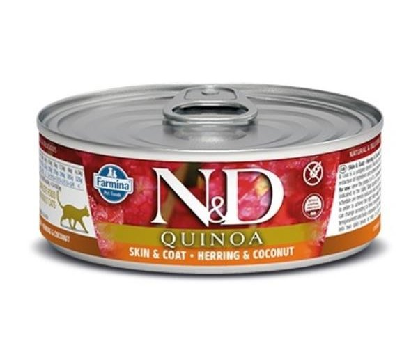Консервы Farmina Cat Quinoa Herring & Coconut, 80 г