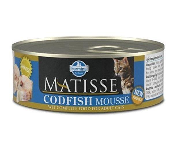 Консервы Farmina Matisse Cat Mousse Codfish, 85 г