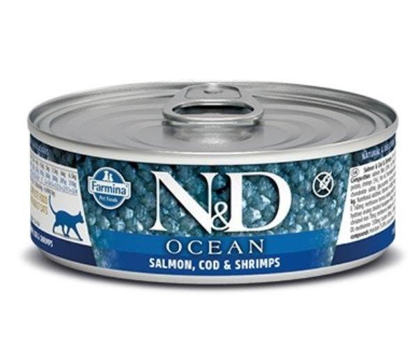 Консервы Farmina Cat Ocean Salmon, Cod & Shrimp, 80 г