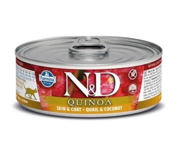 Консервы Farmina Cat Quinoa Quail & Coconut, 80 г