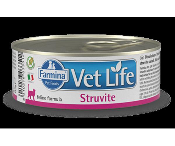 Консервы Farmina Vet Life Natural Diet Cat Struvite, 85 г