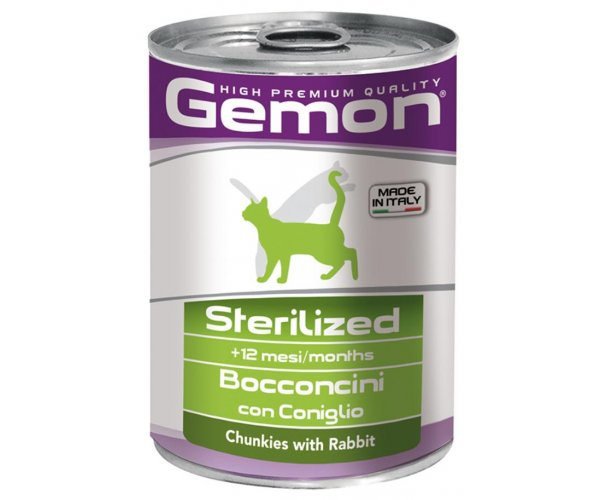Gemon Консервы Cat Sterilized Rabbit