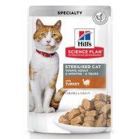 Hill's Science Plan Sterilised Cat влажный корм с индейкой