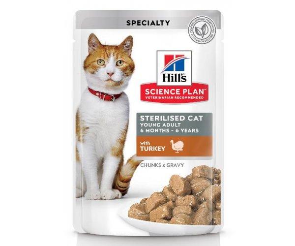 Hill's Science Plan Sterilised Cat влажный корм (индейка)