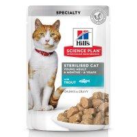 Hill's Science Plan Sterilised Cat влажный корм с форелью