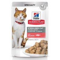 Hill's Science Plan Sterilised Cat влажный корм (лосось)