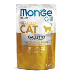 Monge Cat Grill Pouch Sterilised Galletto