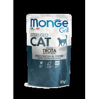 Monge Cat Grill Pouch Sterilised Trout
