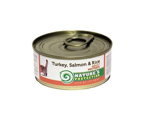 Nature's Protection Cat Neutered Turkey, Salmon & Rice
