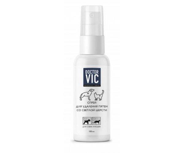 Doctor VIC Спрей для удаления пятен со светлой шерсти для кошек