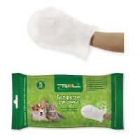 Triol Салфетки-рукавицы влажные для животных