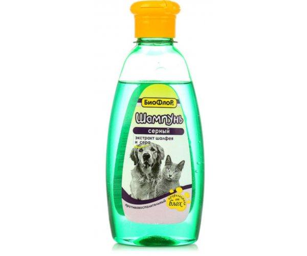 БиоФлор Шампунь серный, 250 мл для кошек