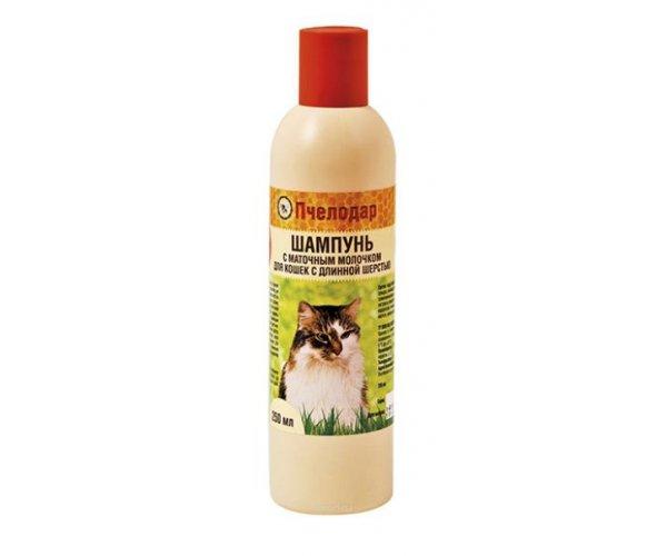 Pchelodar Шампунь с маточным молочком для длинношерстных кошек  для кошек