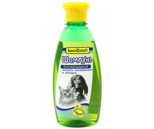 БиоФлор Шампунь бактерицидный, 250 мл для кошек