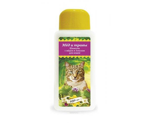 Pchelodar Шампунь с мёдом и лопухом для кошек для кошек