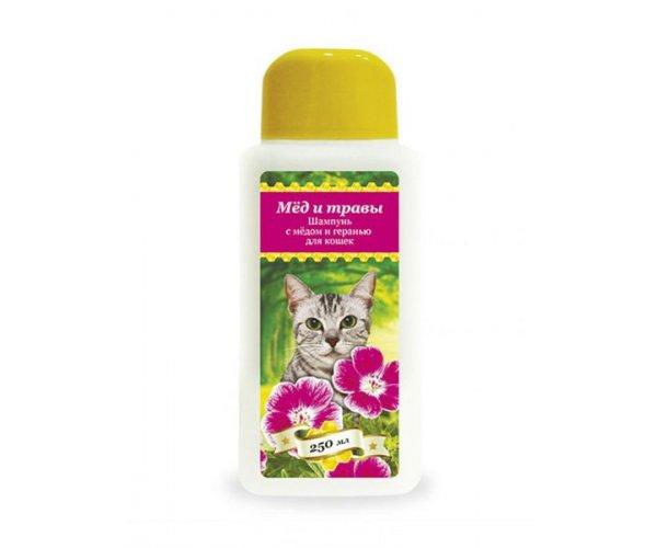 Pchelodar Шампунь с мёдом и геранью для кошек для кошек
