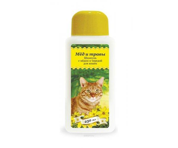 Pchelodar Шампунь с мёдом и чередой для кошек для кошек