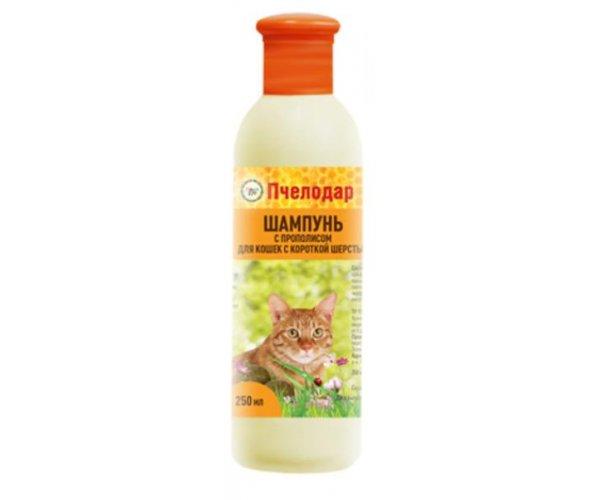 Pchelodar Шампунь с прополисом для короткошерст. кошек для кошек