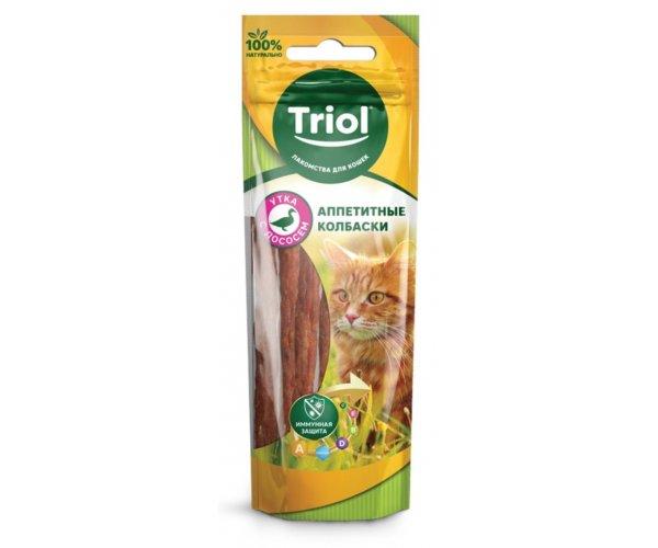 Triol PT29 Колбаски из утки с лососем, 40 г для кошек