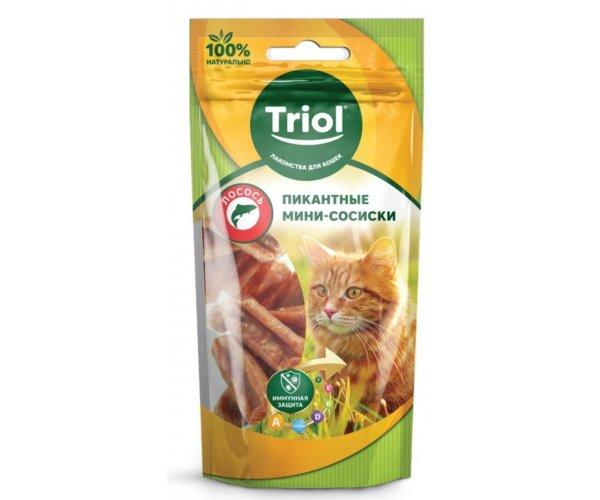 Triol PT33 Мини-сосиски из лосося, 50 г для кошек