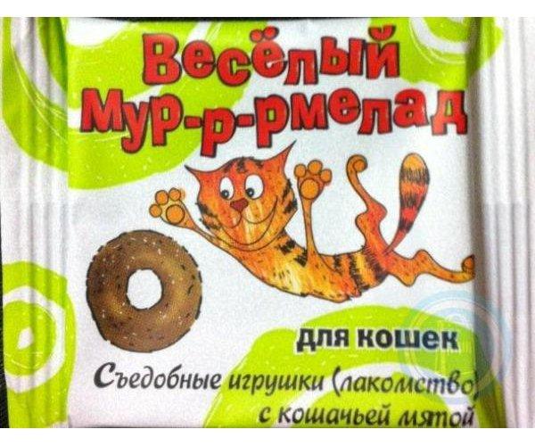"""VEDA Лакомство """"Веселый Мур-р-рмелад"""" с кошачьей мятой для кошек"""