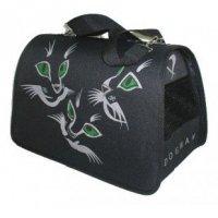 Dogman Сумка Лира №2 (кошки, черный)