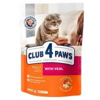 Club 4 Paws для взрослых кошек (Телятина)